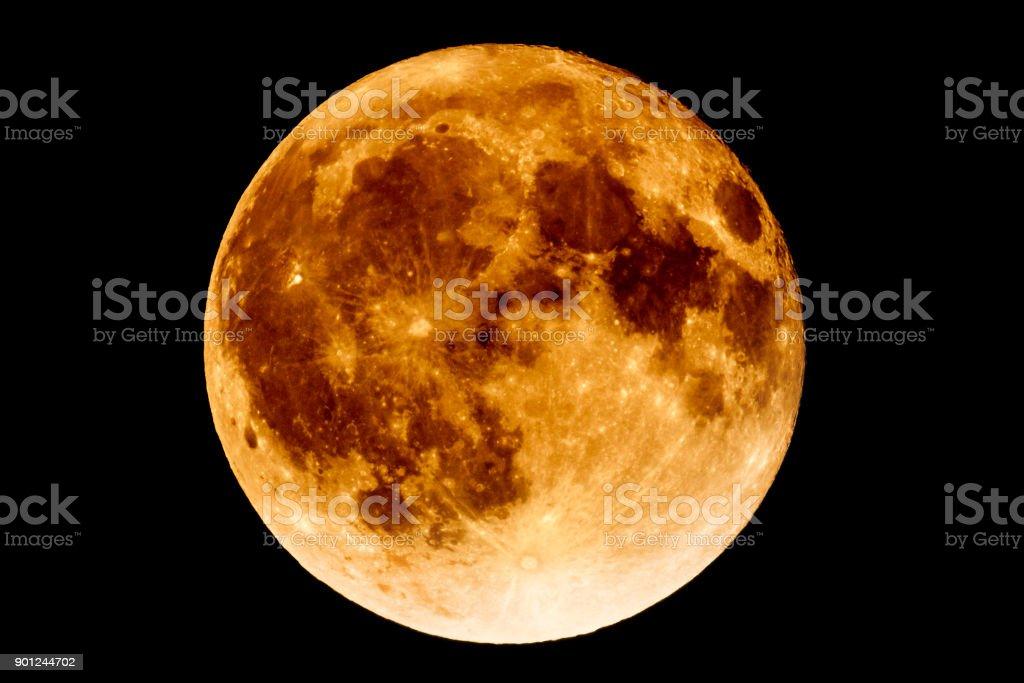 Lunar eclipse - Full Moon Luna stock photo