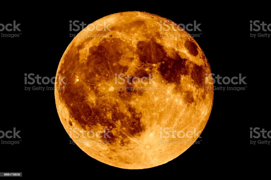 Maansverduistering - vollemaan Luna foto