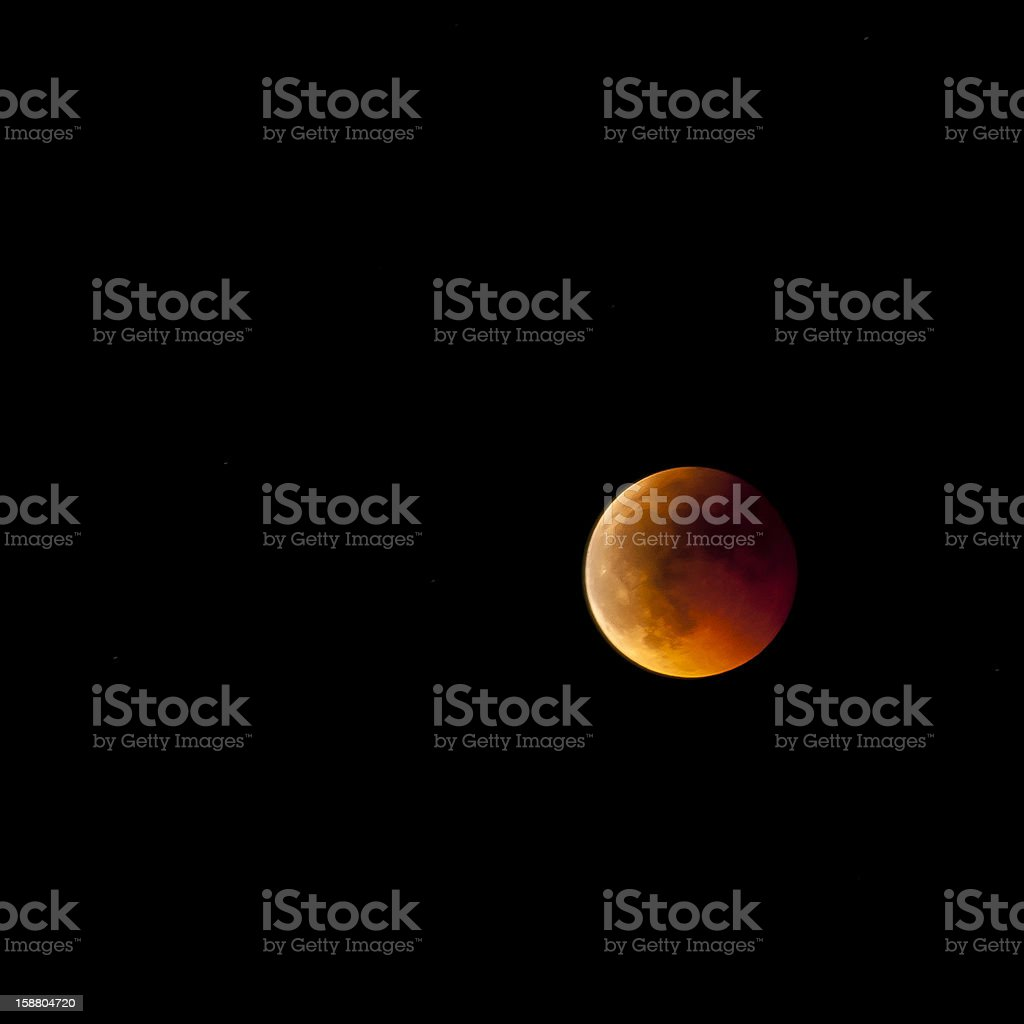 Lunar Eclipse in Europe, June 15th 2011 royalty-free stock photo