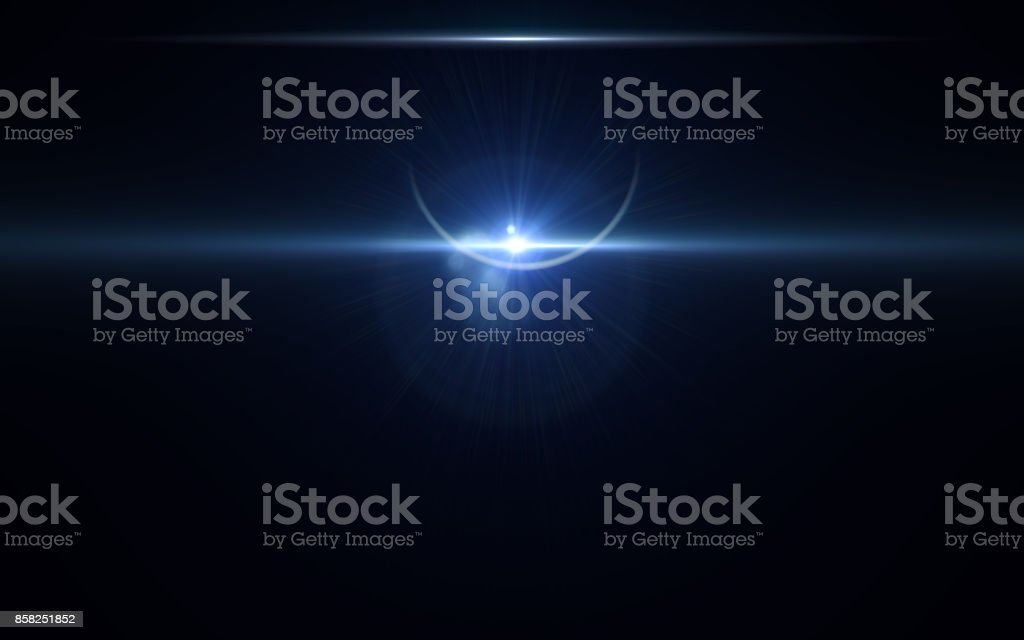 lunar eclipse moon light flare in space background.Abstract digital lens flare in black background.Simple nature flare on space stock photo