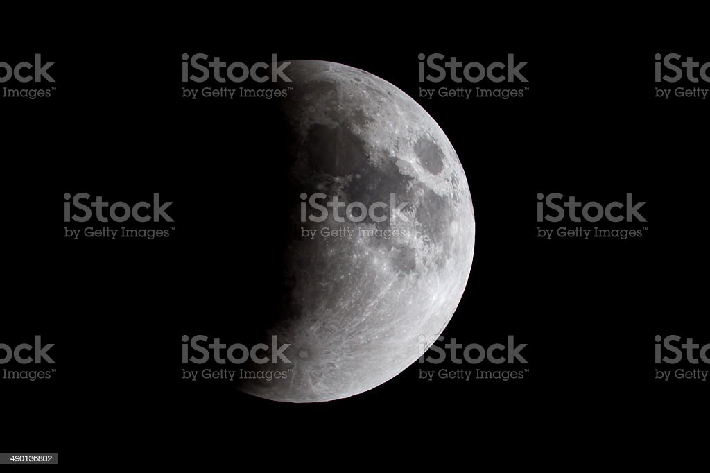 Lunar Eclipse of the Moon royalty-free stock photo