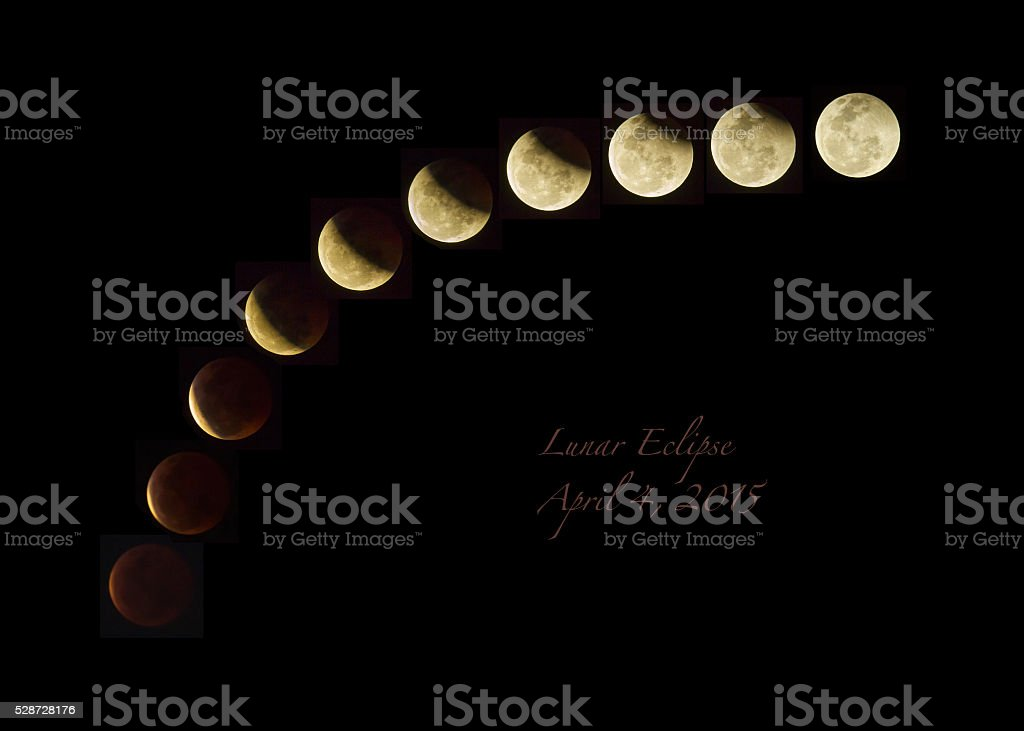 Lunar eclipse. stock photo