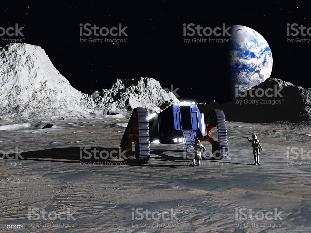 Lunar explorers stock photo