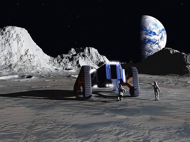 Lunar explorers stock photo
