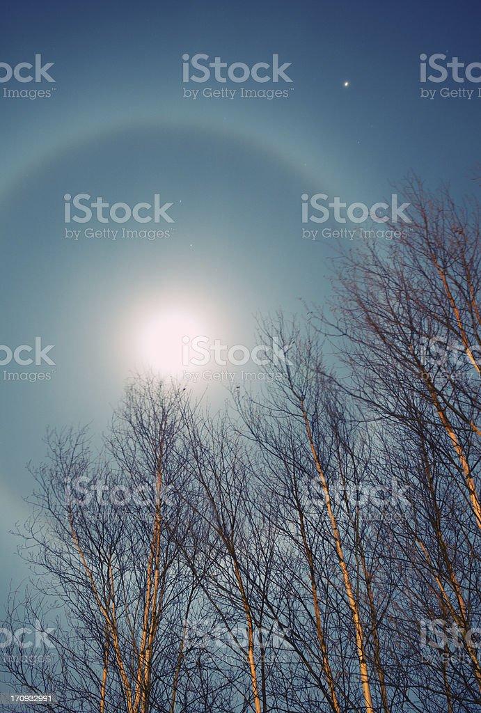 Lunar Halo royalty-free stock photo