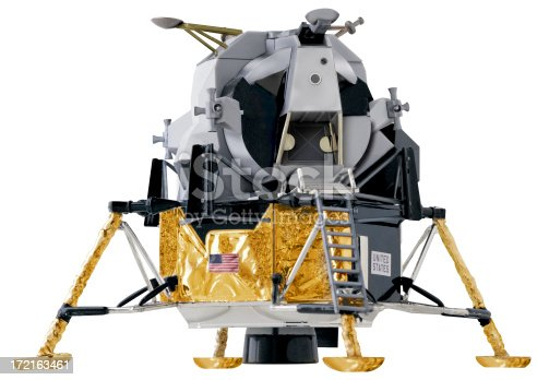 Replica of the Eagle, the lunar lander. Contains a clipping path.