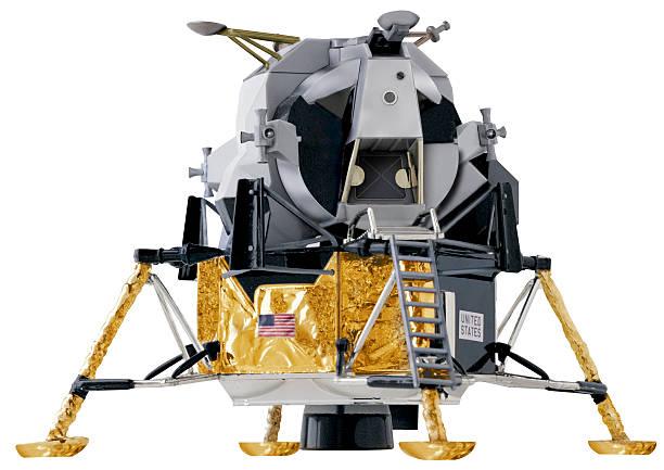 lunar lander-modell - mondlandefähre stock-fotos und bilder