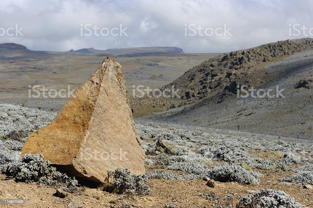 Lunar landscape, Bale Mountains, Ethiopia stock photo