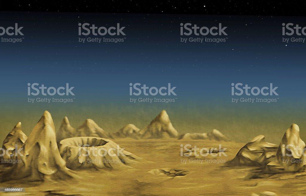 Lunar landscape stock photo