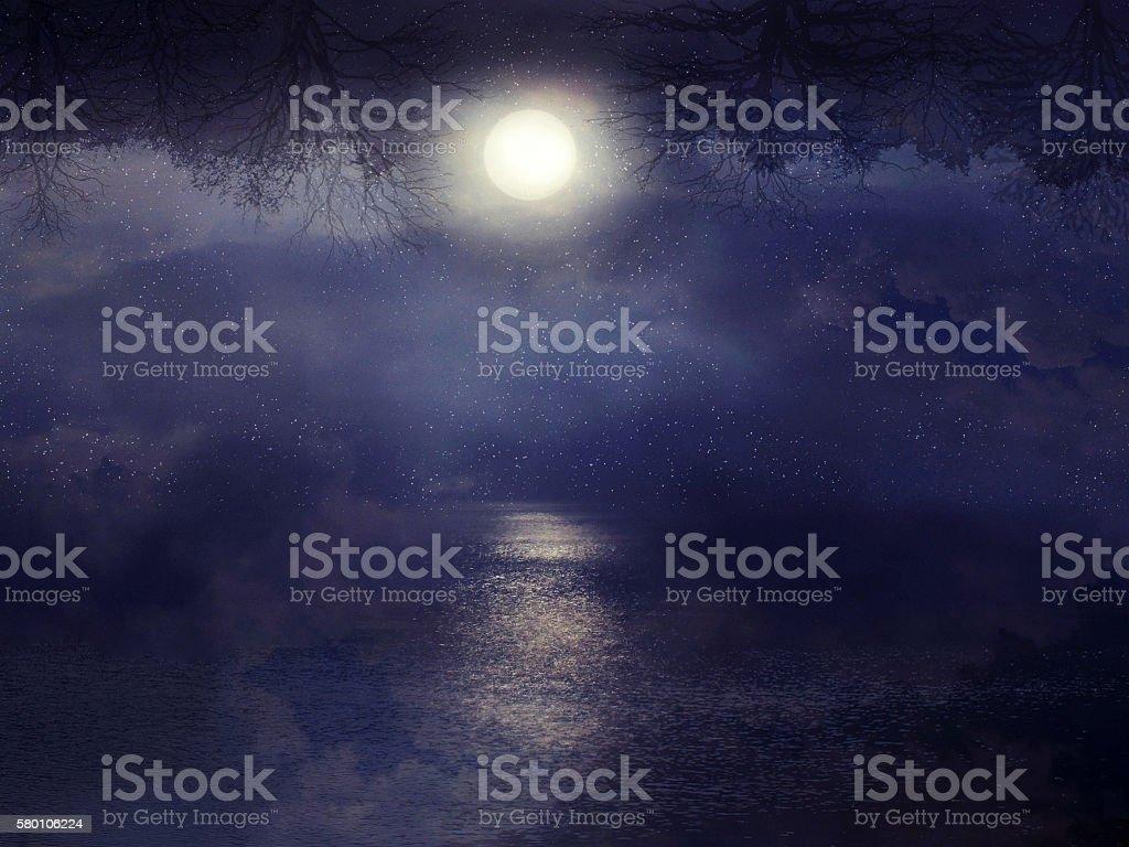 lunar path stock photo