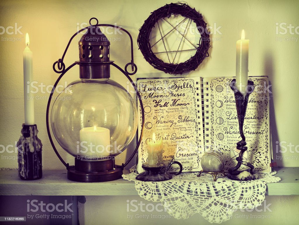 Magic gothic ritual. Wicca, esoteric, divination and occult...