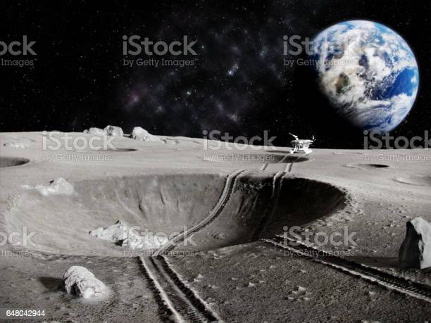 Lunar Tractor Stock Photo - Download Image Now