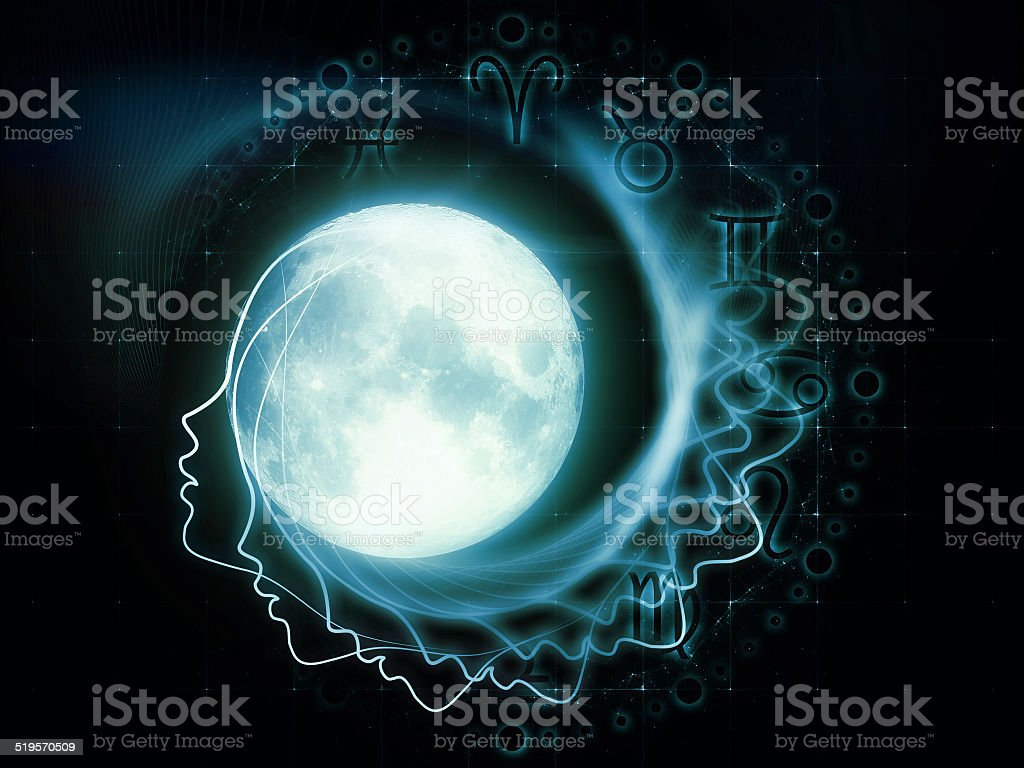 Lunar Zodiac stock photo