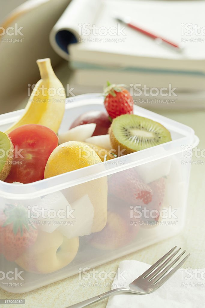 Lunch and fruit royalty-free stock photo