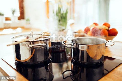 Organic lunch being made in modern kitchen
