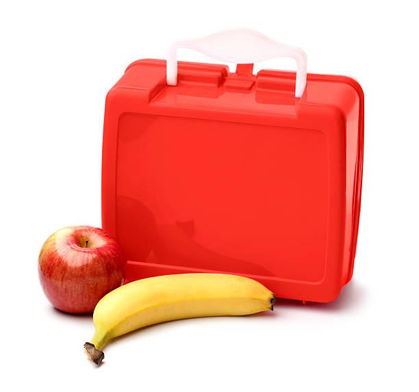 lunch box and fruit - lunchlåda bildbanksfoton och bilder