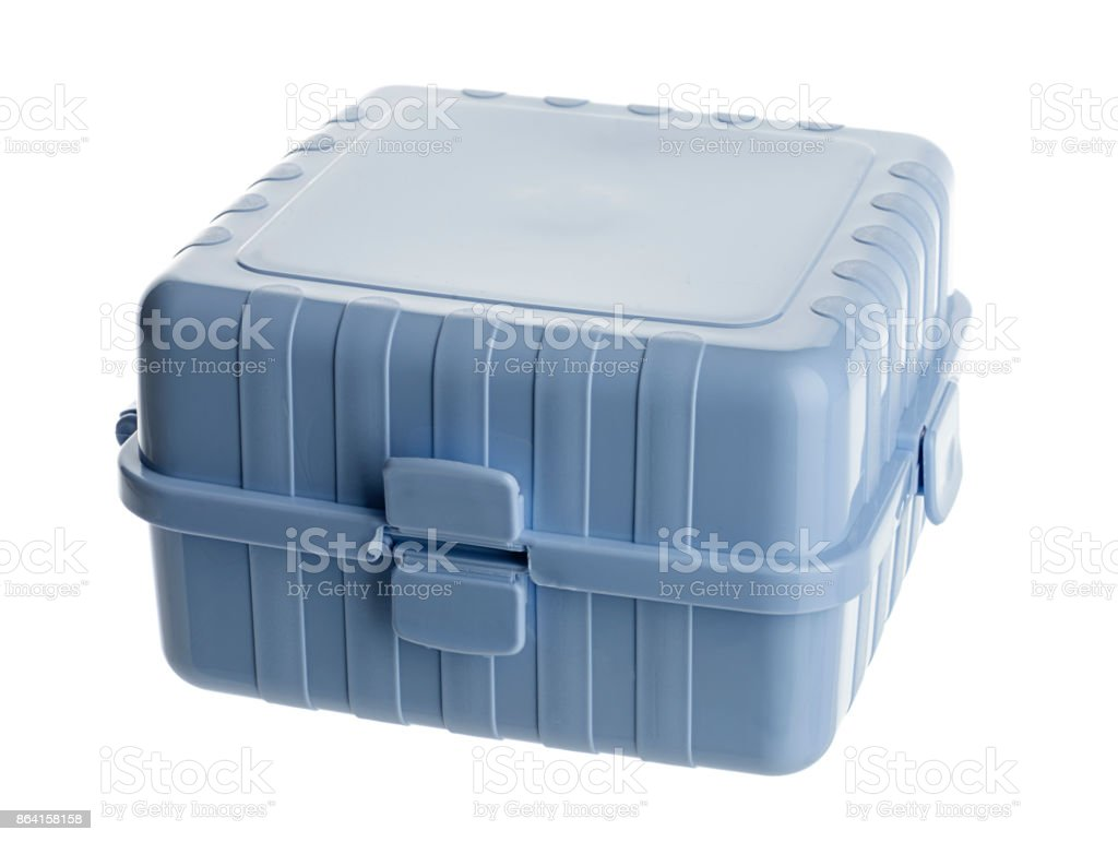 Lunch Box, Isolated on White royalty-free stock photo