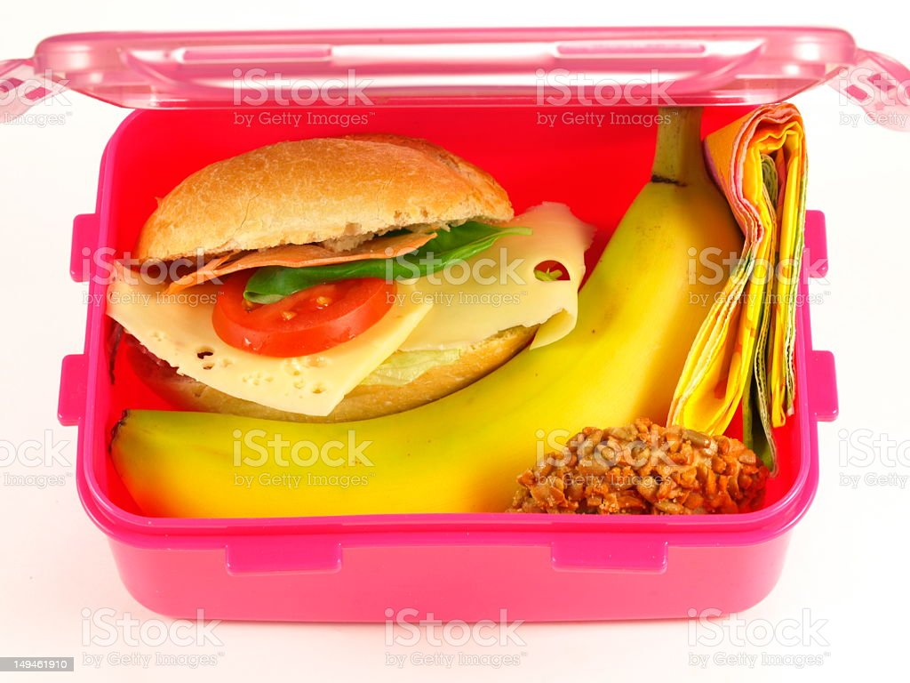 Lunch box, isolated royalty-free stock photo
