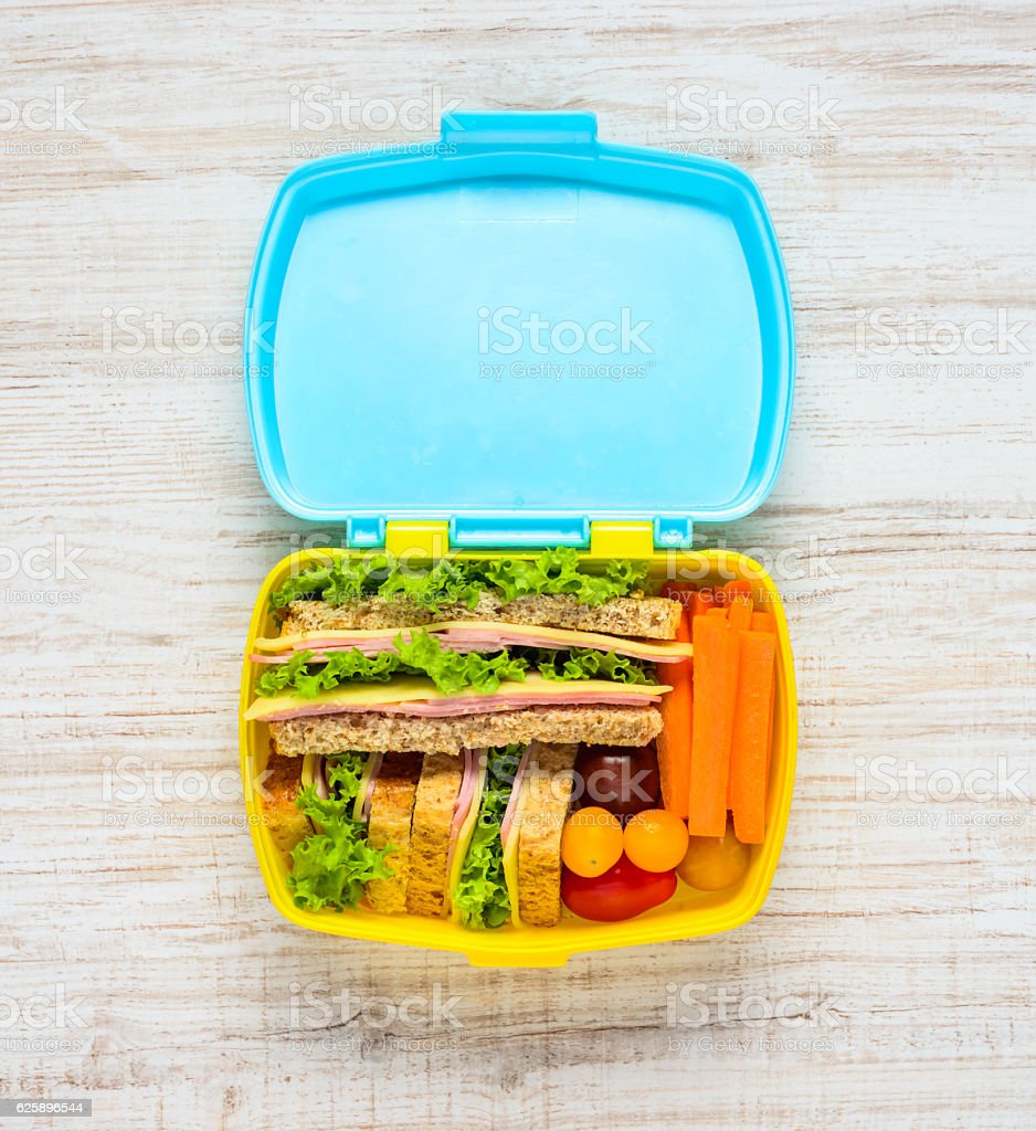 Lunch Box with Food – Foto