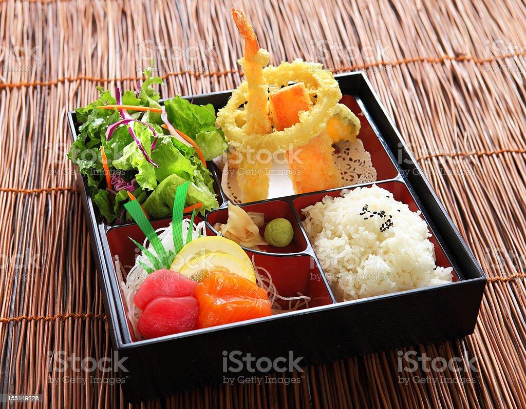 Lunch Box with Sashimi stock photo