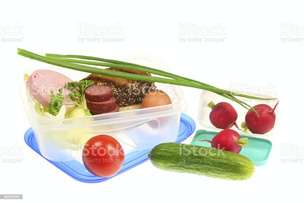 Lunch boxes. royalty-free stock photo