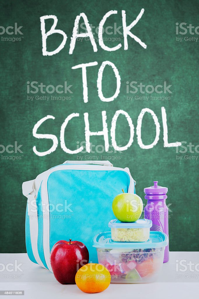 Lunch for back to school stock photo