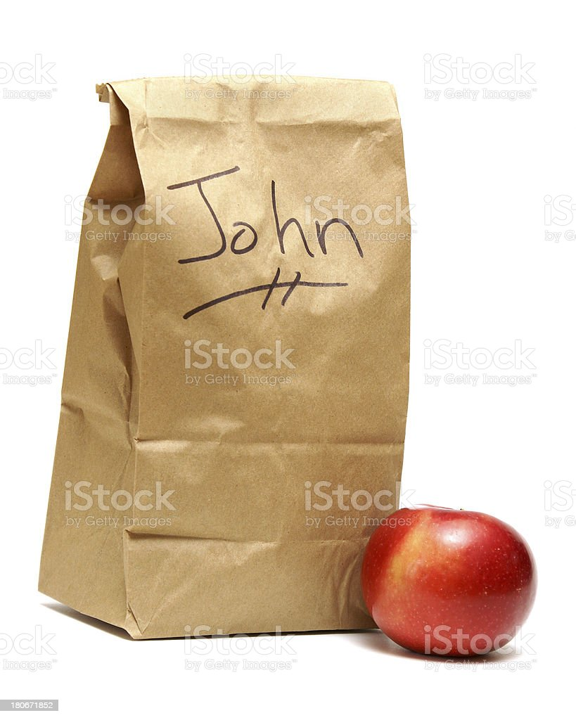 Lunch for John stock photo