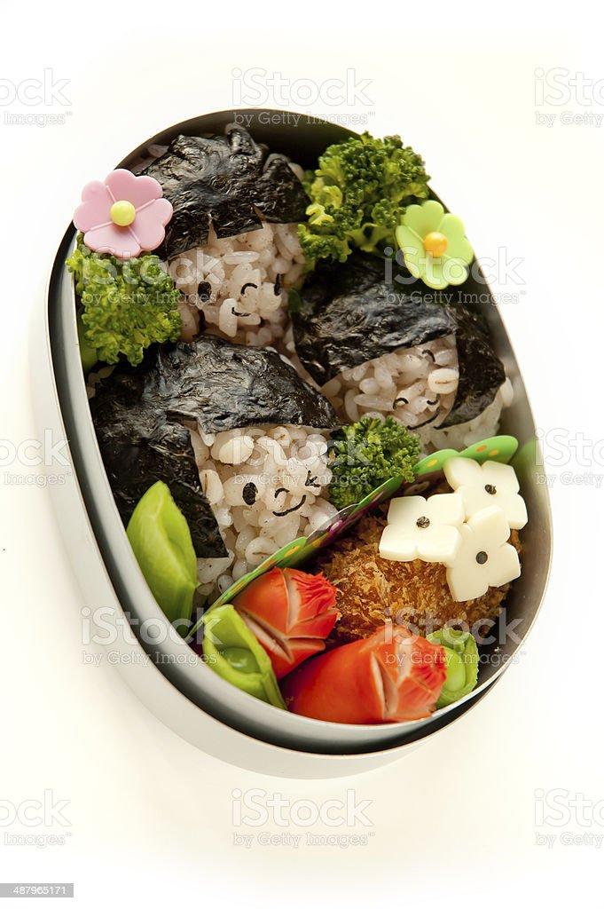 Lunch girl motif stock photo