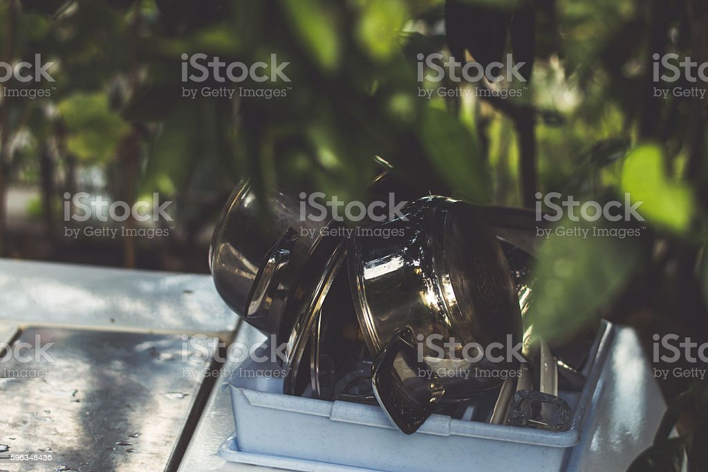 Lunch in Garden royalty-free stock photo