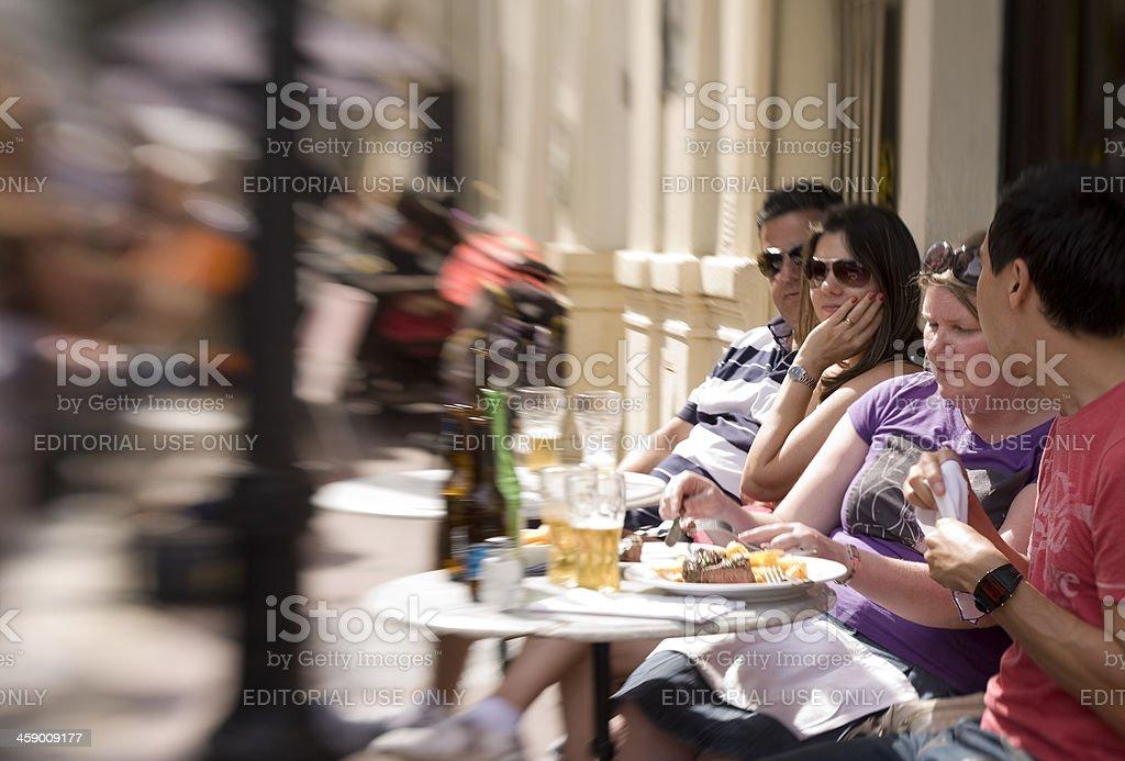 Lunch in San Telmo neighborhood royalty-free stock photo