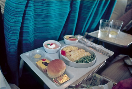 Lunch in the plane