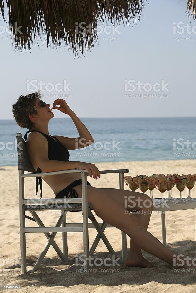 Lunch on the beach - Royalty-free Appetizer Stock Photo