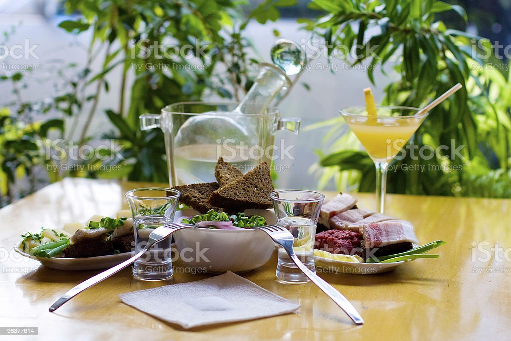 lunch on two persons royalty-free stock photo