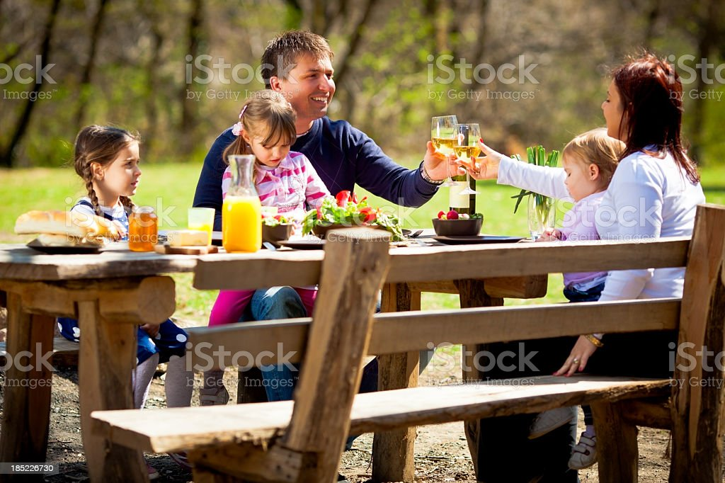 Lunch Outdoors royalty-free stock photo