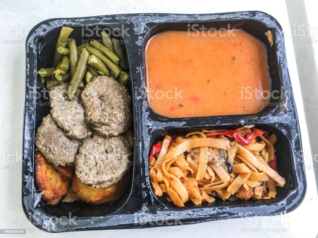 Öğle Yemeği paket yemek. Türk Gıda arka plan birimi izole stok fotoğrafı