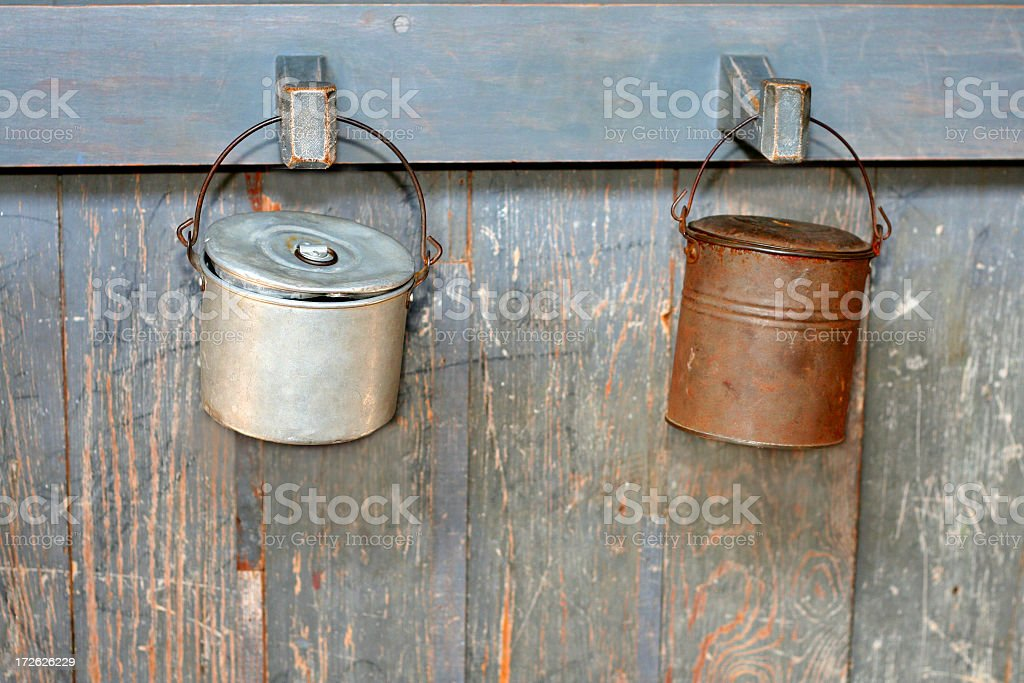 lunch pails stock photo