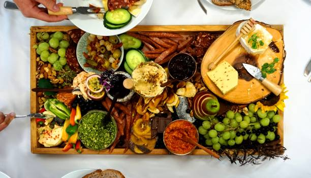 Lunch Platter from above stock photo