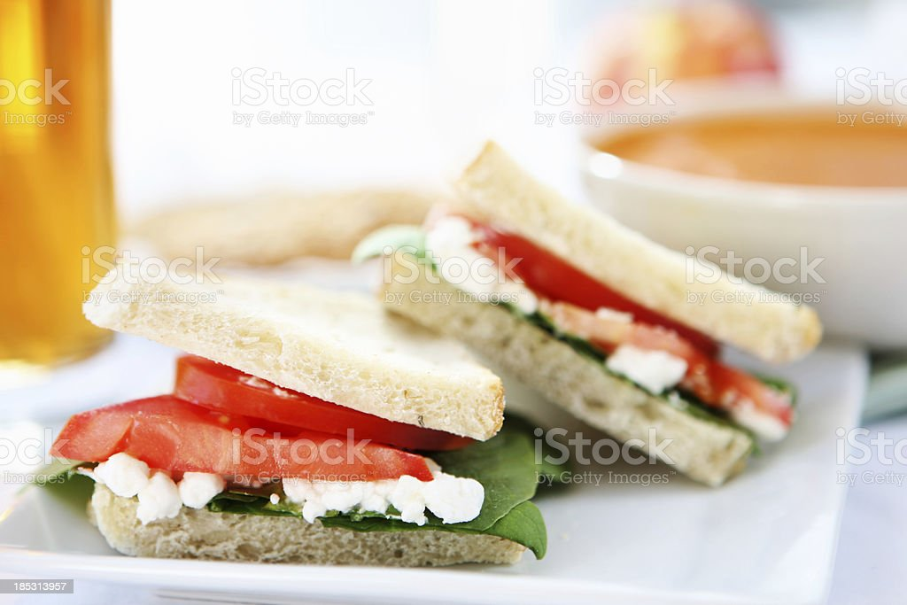 lunch  - soup ans sandwich royalty-free stock photo