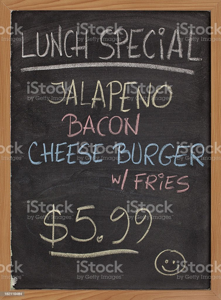 lunch special menu sign royalty-free stock photo