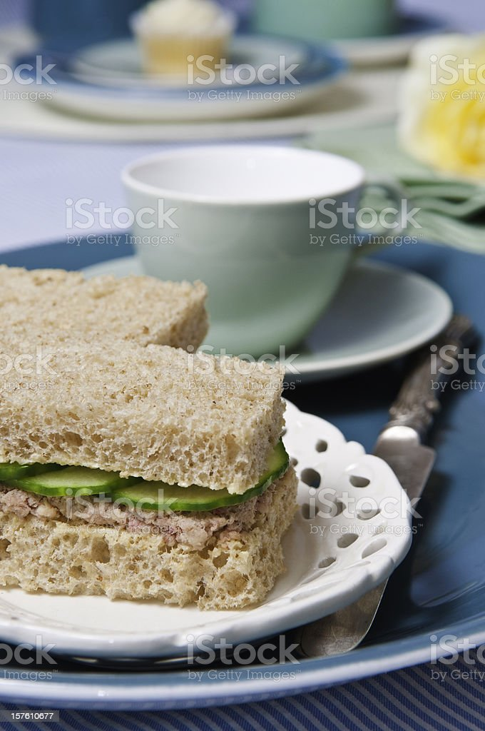 Lunch time sandwhich and a drink. royalty-free stock photo