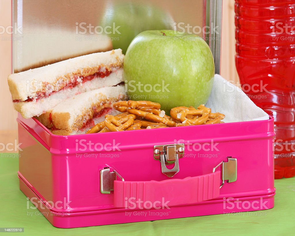 Lunchbox express - pink stock photo