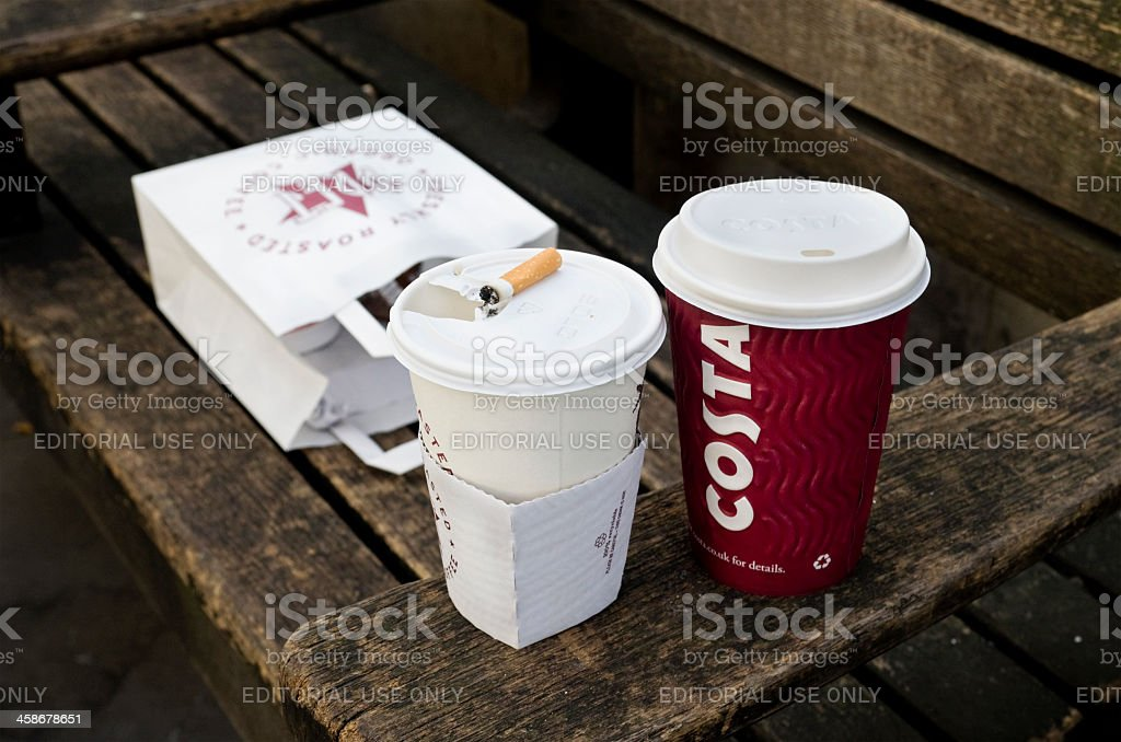 Lunchbreak litter stock photo