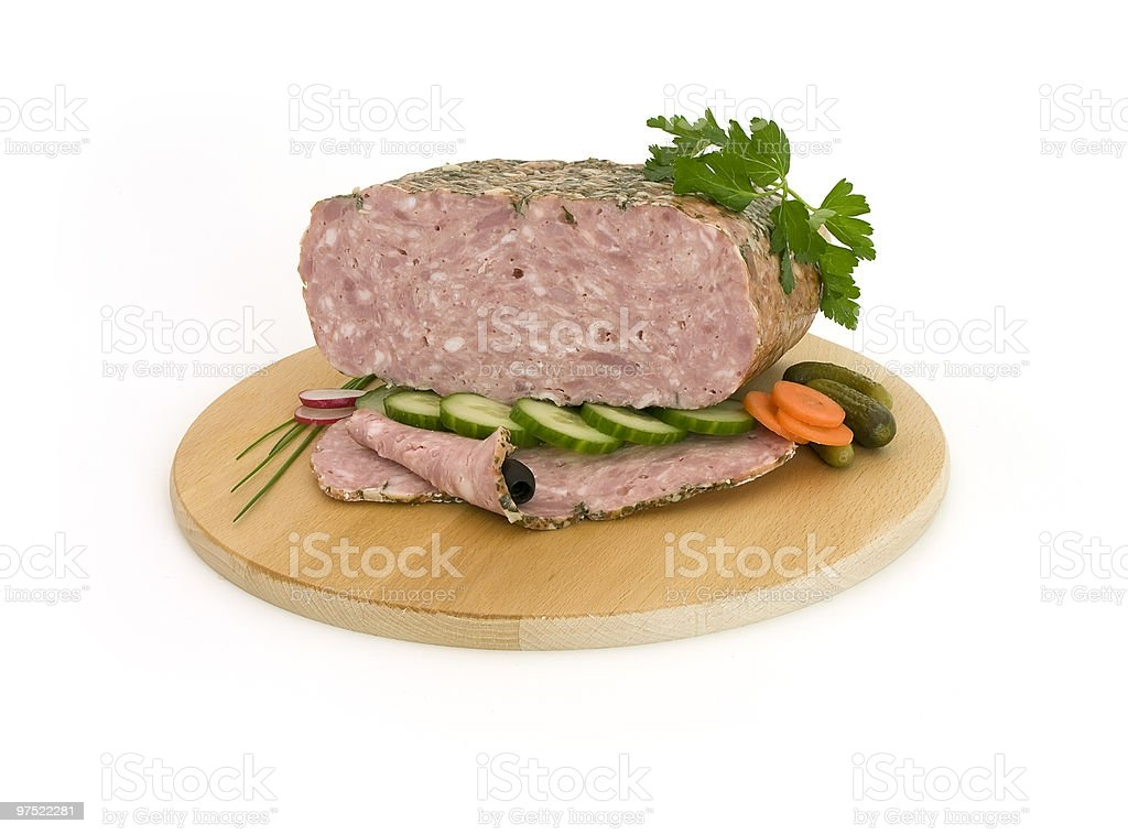 luncheon meat with vegetables royalty-free stock photo