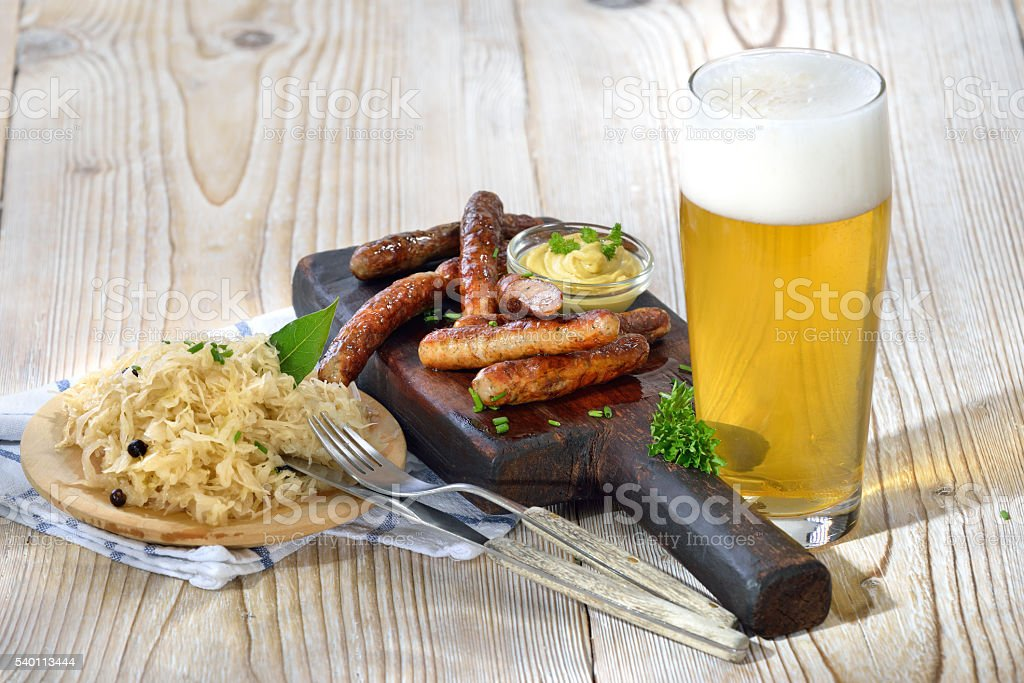 Lunchtime in Bavaria stock photo
