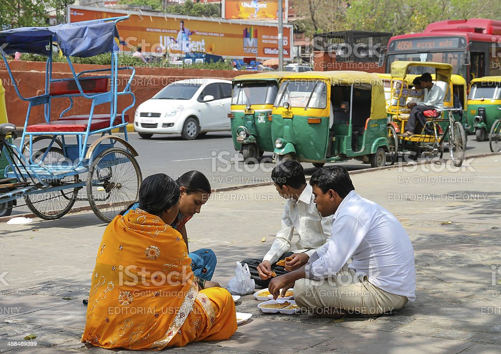Lunchtime in Delhi royalty-free stock photo