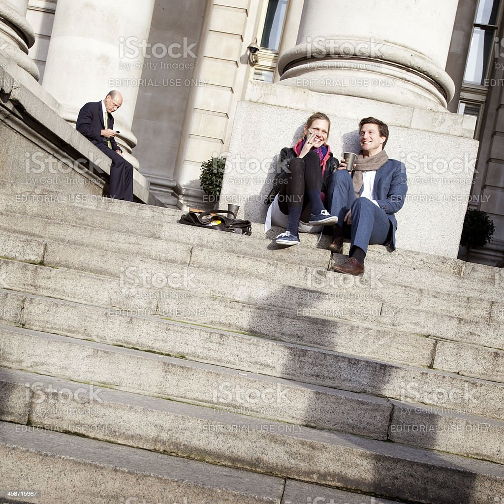 lunchtime lovers stock photo