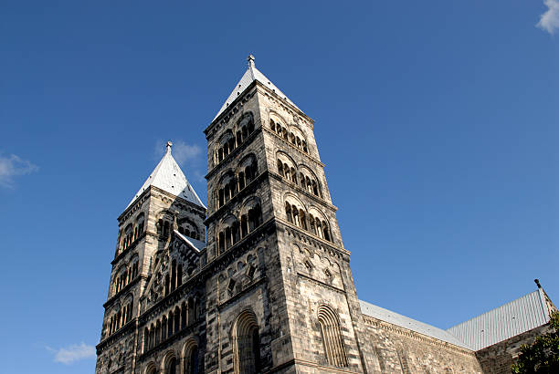 lund cathedral - lund stock photos and pictures