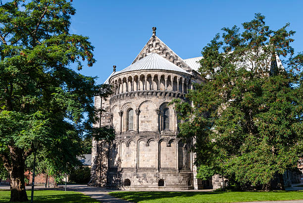 lund cathedral (sweden) - lund stock photos and pictures