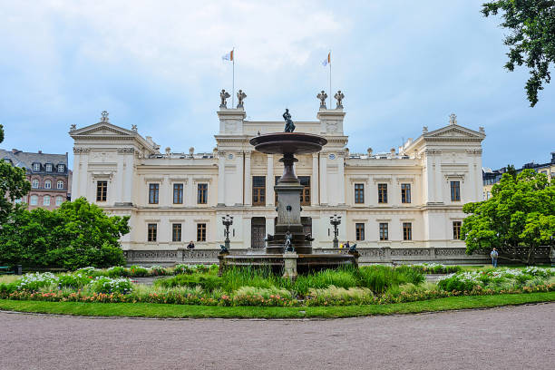 lund university main building - lund stock photos and pictures