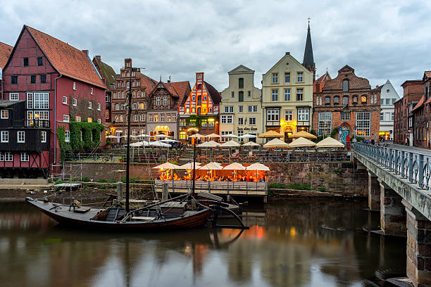 Luneburg at evening Historic old city of Luneburg at evening lüneburg stock pictures, royalty-free photos & images